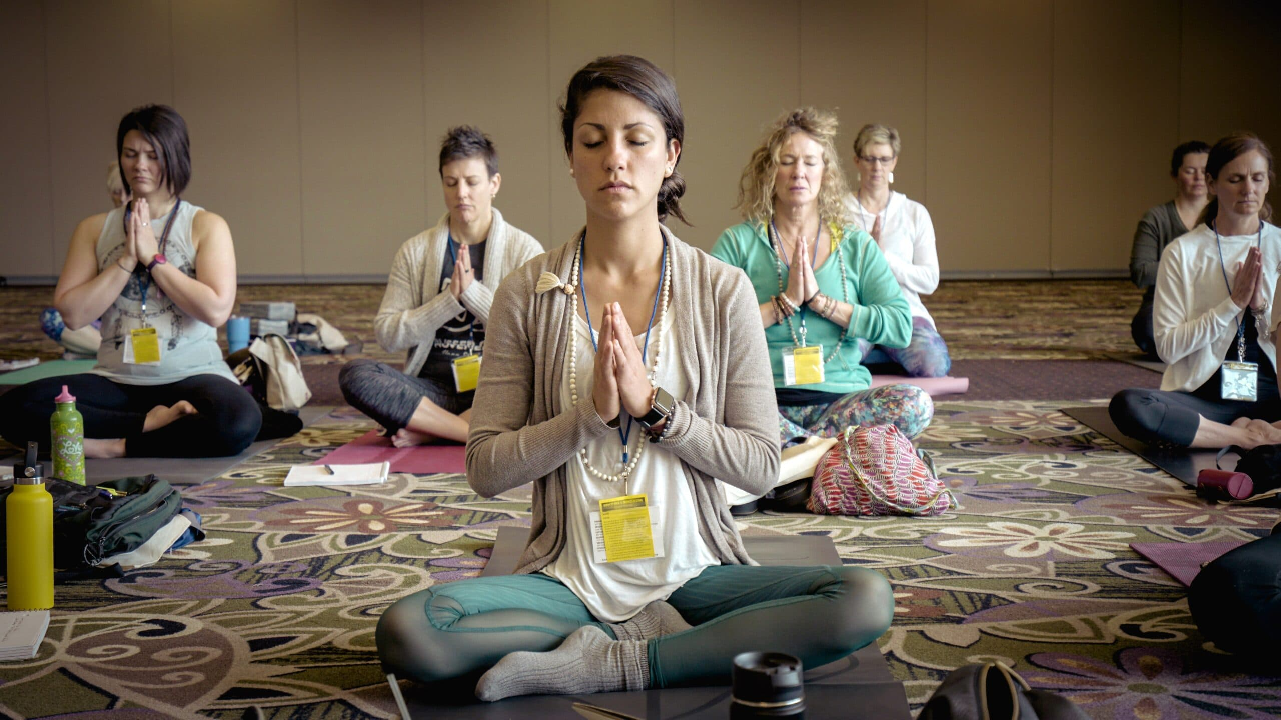 Portrays meditation in action